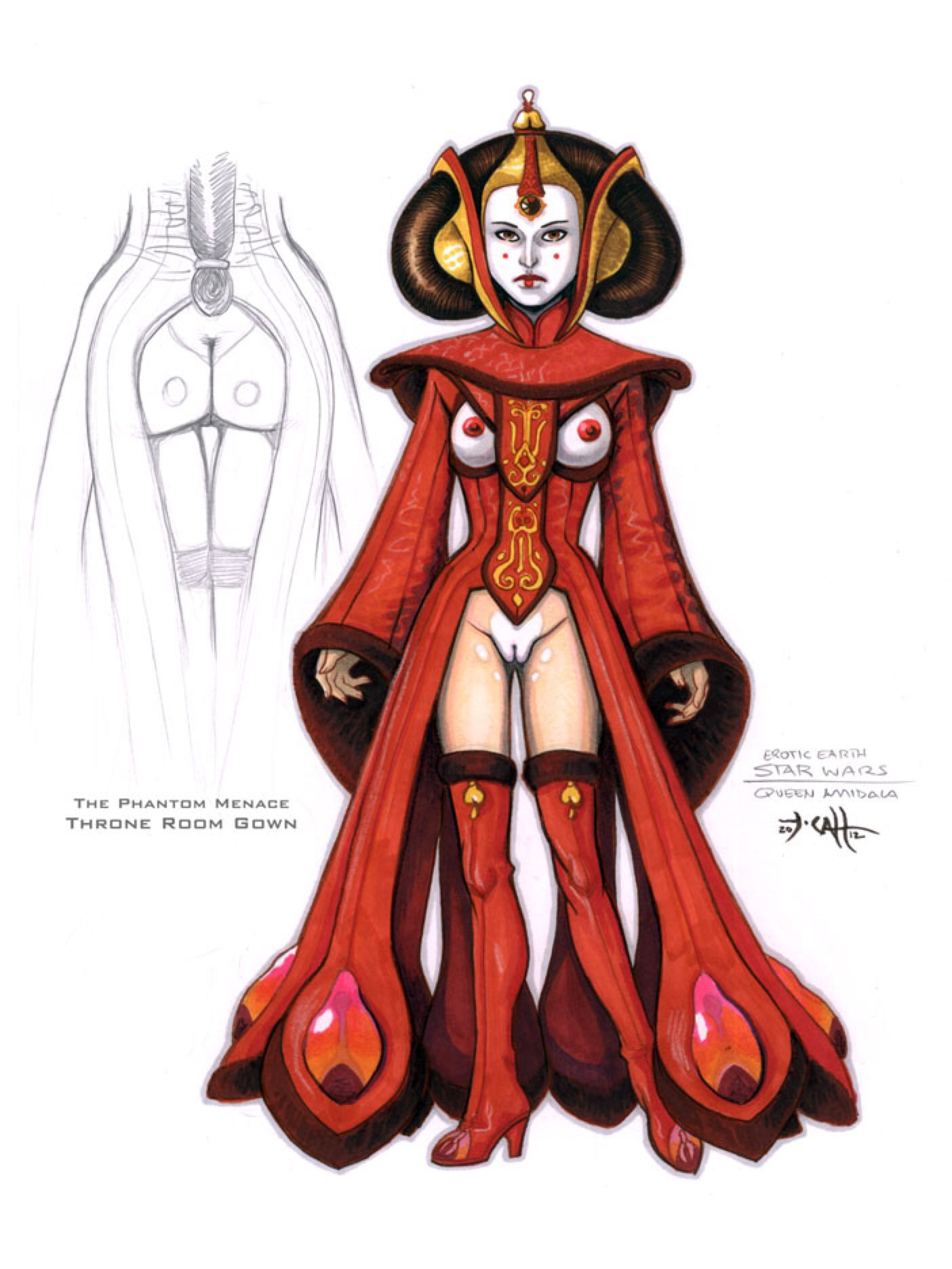 naked star wars queen amidala