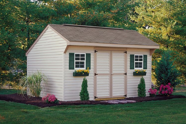Vinyl Carriage Shed   Backyard Storage Shed In North Carolina U2022 Liberty  Storage Solutions U2022 Statesville
