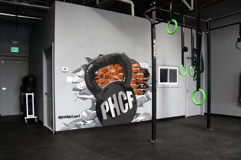 Gym Crossfit With Murals