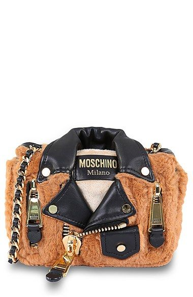 2495532a05266 Moschino Biker Jacket Shoulder Bag available at #Nordstrom so cute ...