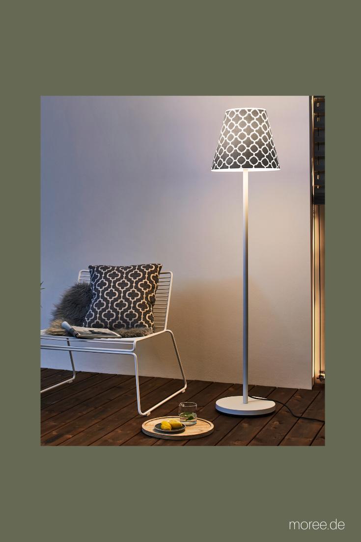 Stehlampe Im Freien Mit Quatre Folienmuster Draussen Leben Dekoration Idee Design Terrasse Garten Stehlampe Stehlampe Design Lampen