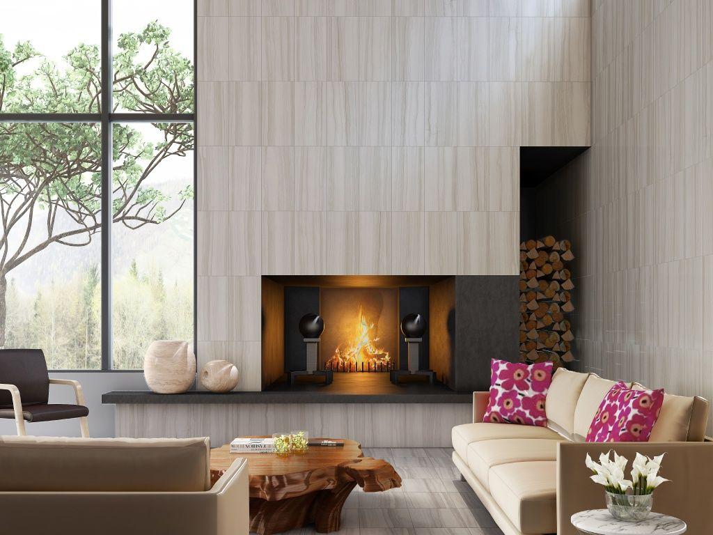 interceramic burano bianco veletta 12x24 fireplaces