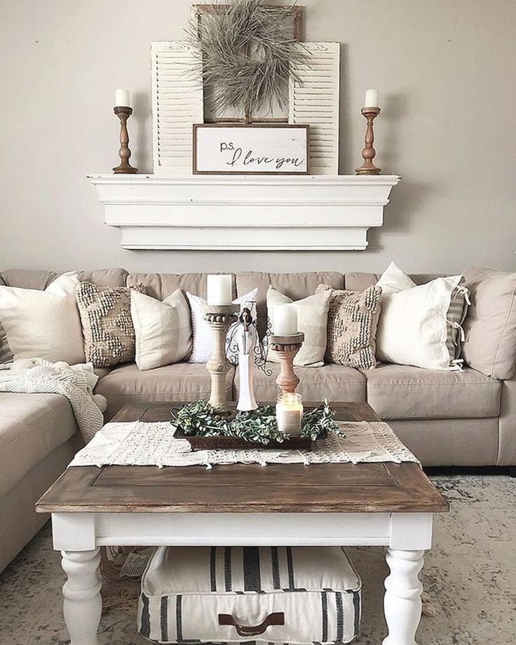 Simple Farmhouse Gray Living Room Layout 36 Popular Rustic Farmhouse Living Room Farmhouse Decor Living Room Vintage Living Room Furniture Vintage Living Room Rustic farmhouse living room decor