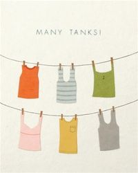 Many Tanks! card made in the Philippines by women who are survivors of sex trafficking.