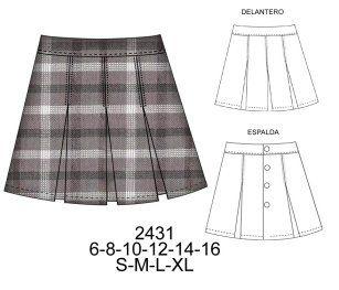 ccd414a1e0 Modelos de falda de colegio  colegio  falda  modelos  modelosdeFalda ...