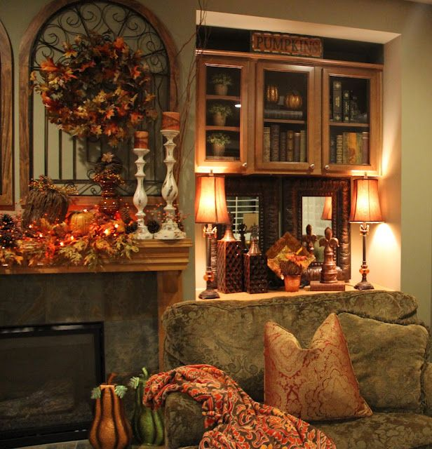 Fall Home Decorations: Such Pretty Fall & Thanksgiving Decor! Old World!