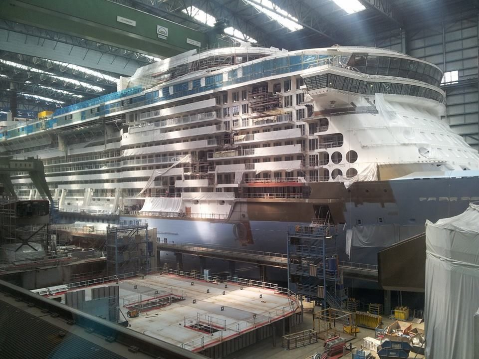 July 5 2014 Tourist Photo Of Royal Caribbean International 39 S Quantum Of The Seas Build And