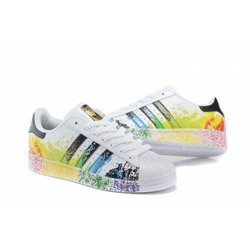 Adidas Boty Dámské Originals Superstar Pride Pack Bílý Černá D70351 - Adidas  Obchod ffa88fc06b8