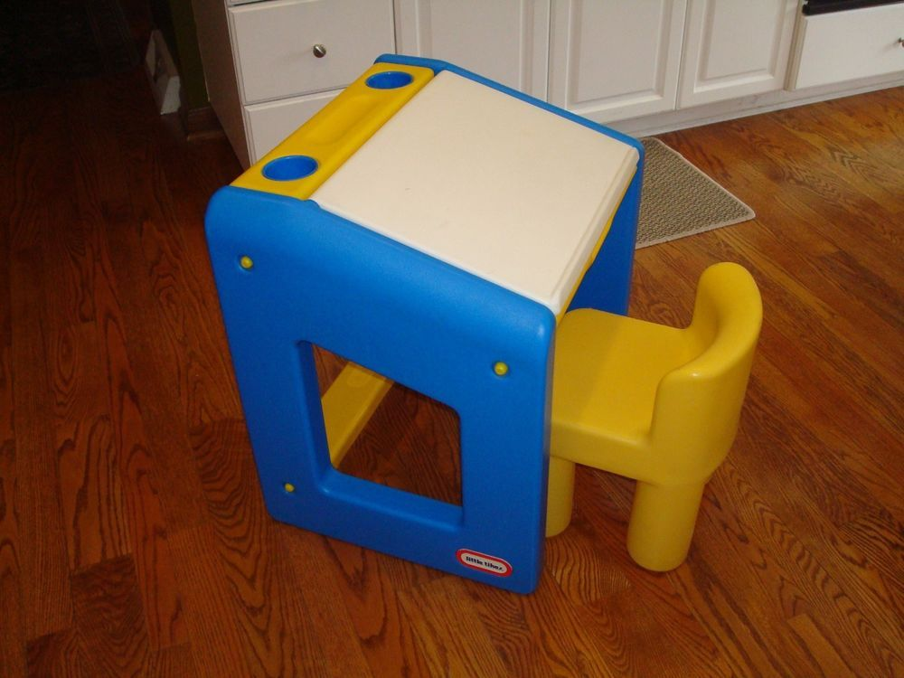 Vintage Little Tikes Child Size Activity Drawing All N 1 Desk W
