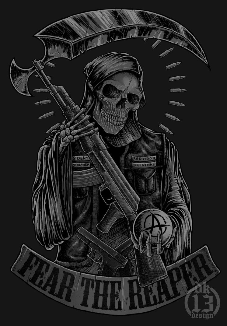 Reaper Of Anarchy By Dk13design In 2019 Sons Of Anarchy