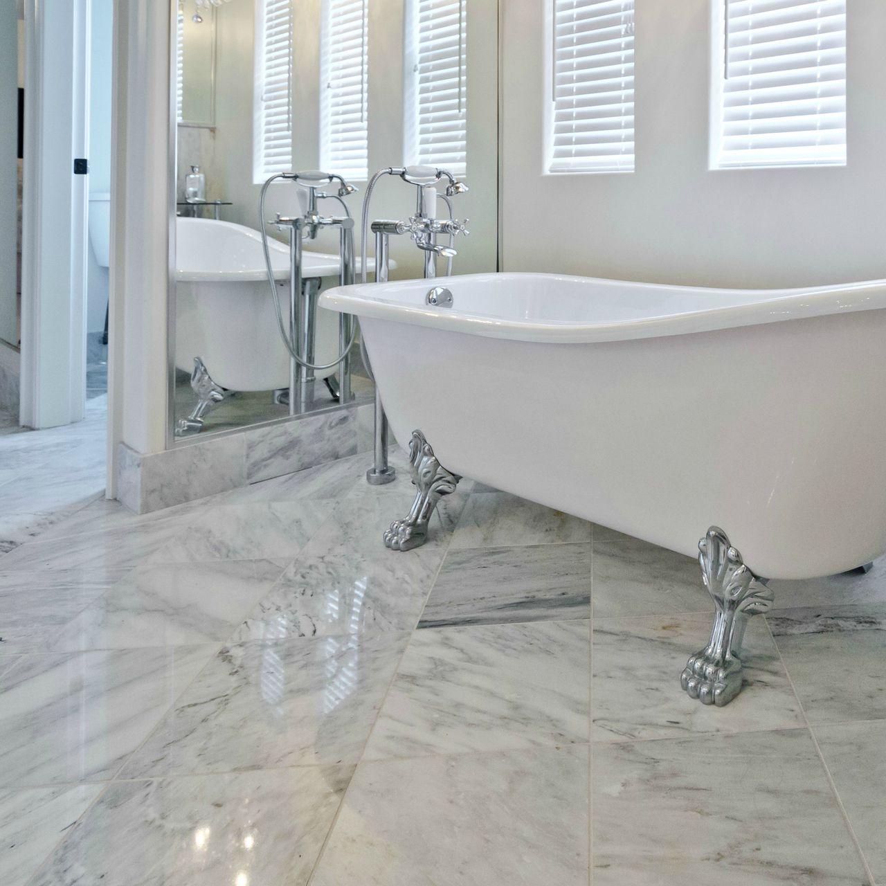 Bianco Carrara 12 X Polished Marble Tile