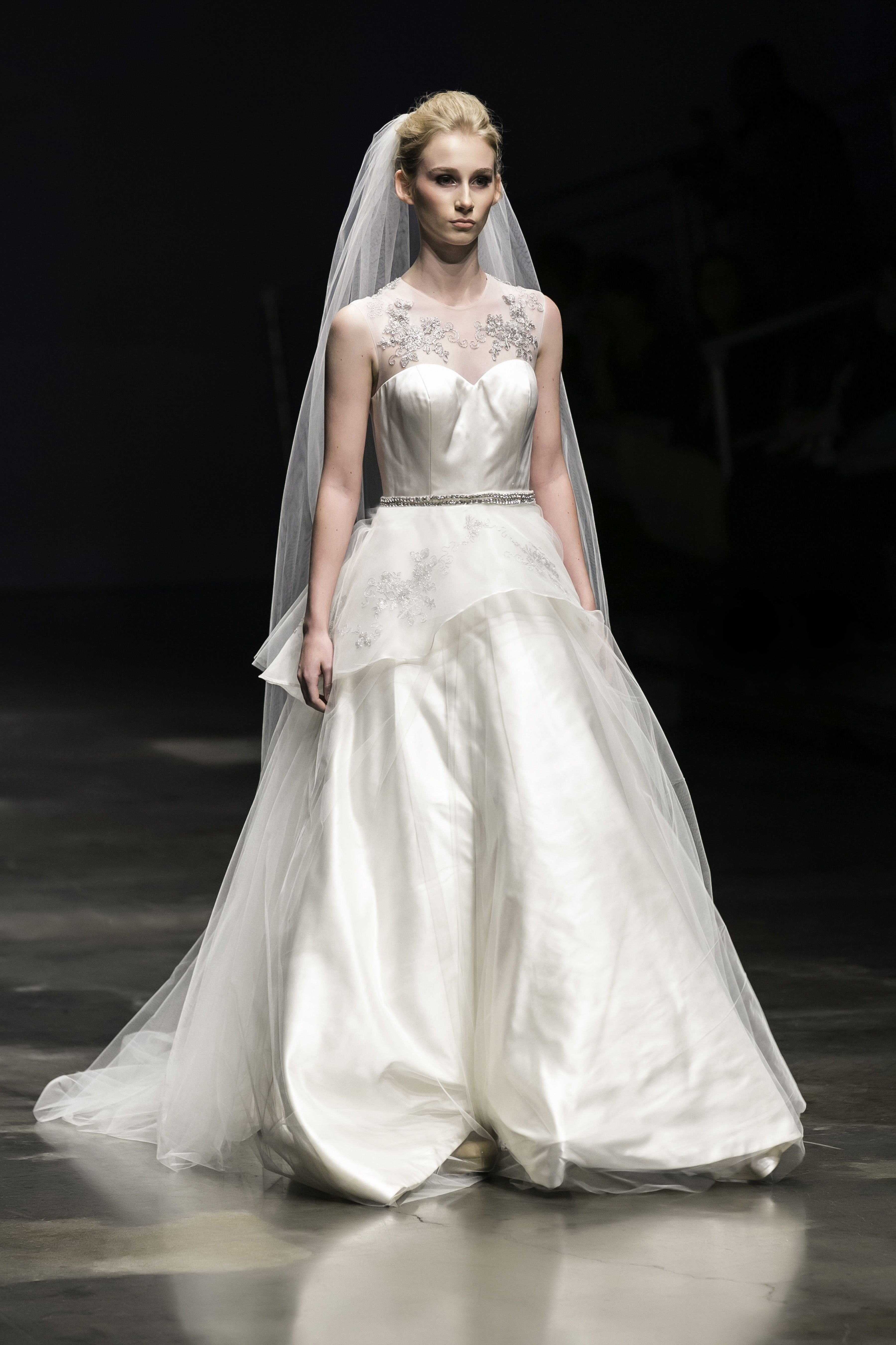 Aline ballgown wedding dress with sweetheart neckline
