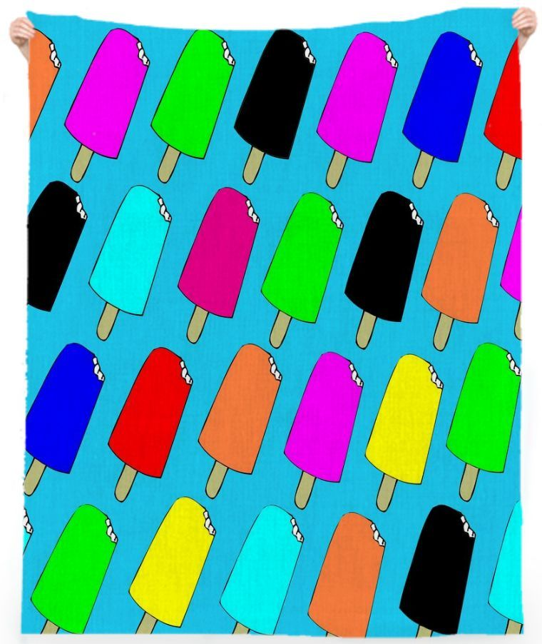 Popsicles Beach Towel from Print All Over Me