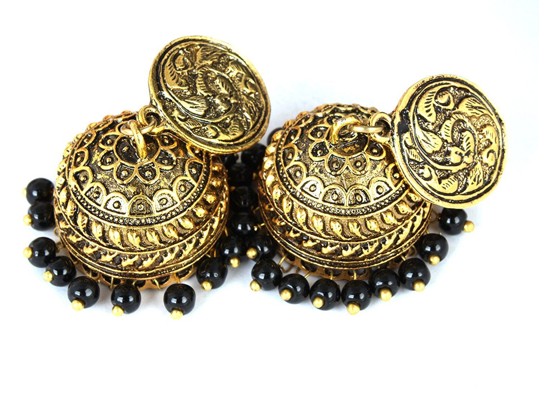 Buy Waama Jewels Oxidised Rajwada Fashion Earrings Special Festive ...
