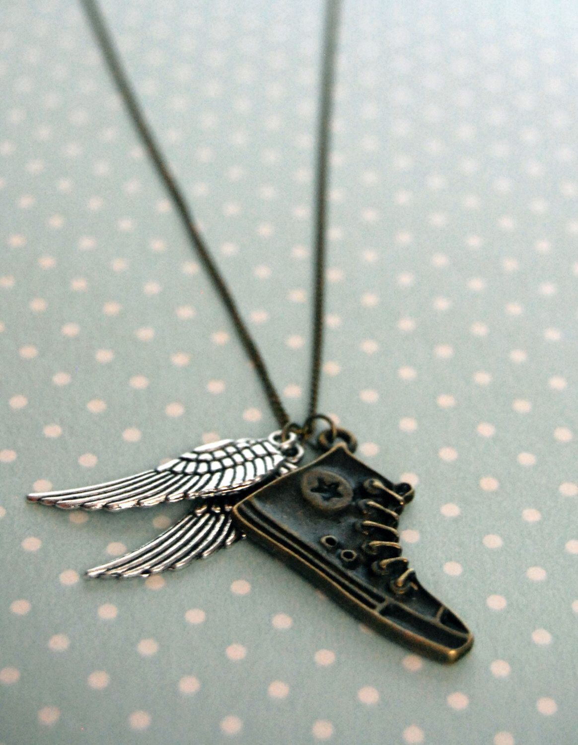 Percy Jackson - Hermes shoes - Perseus flying shoes - Greek Mythology - Converse wings necklace by otterlydesign on Etsy https://www.etsy.com/listing/123209571/percy-jackson-hermes-shoes-perseus