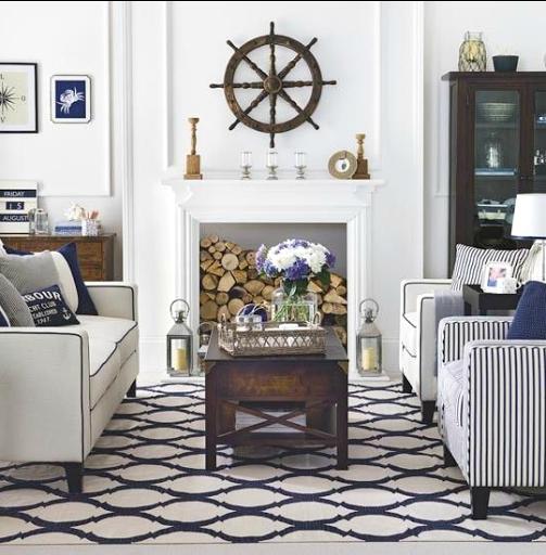 21 Nautical Living Room Decor & Interior Design Ideas in 2020 ...
