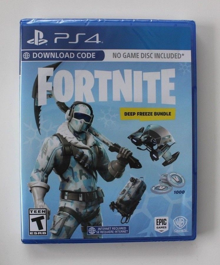 Fortnite Deep Freeze Bundle Playstation 4 Ps4 Brand New Us