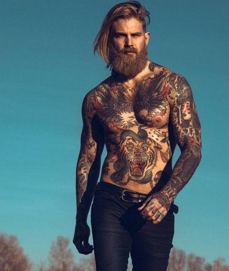 21 photographies d'hommes aux cheveux longs: un régal pour les yeux!   – tattoo