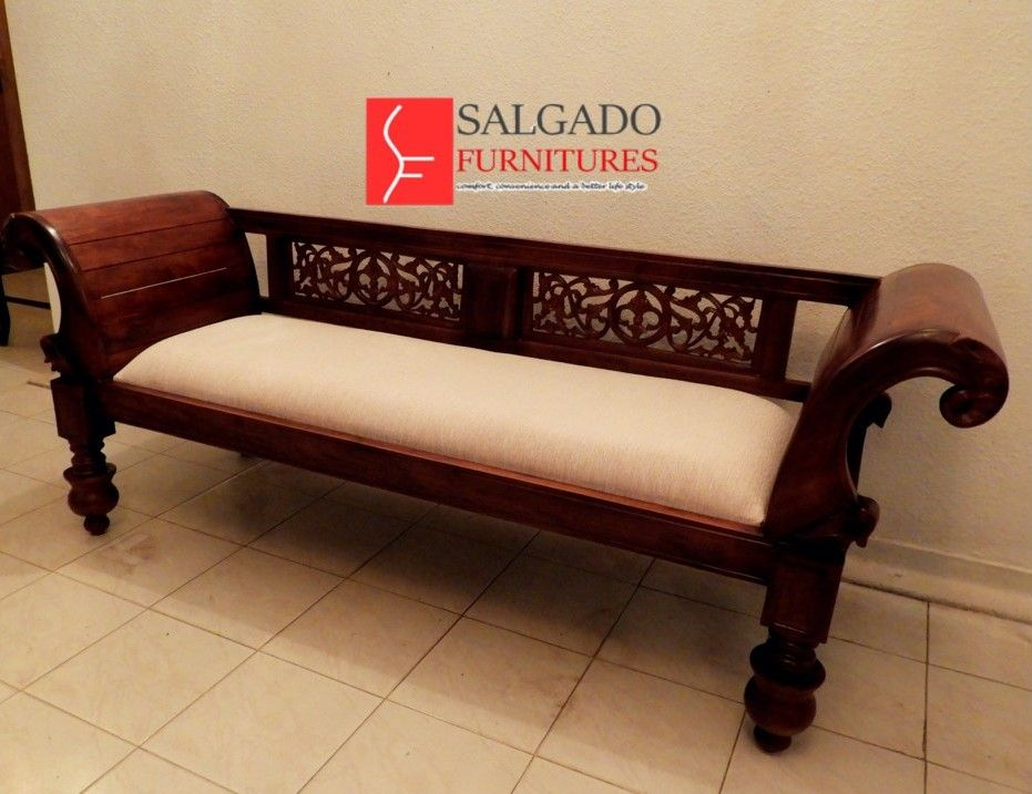 Fabricated Teak Wooden Couch From Salgado Furnitures Comfort Convenience And A Better Life Style We Can Furniture Online Furniture Stores Furniture Design