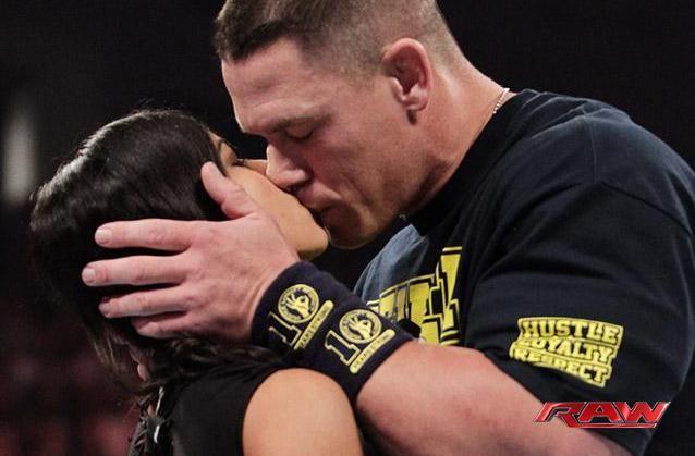 Aj Cena Kiss John Cena Wwe Wrestling News