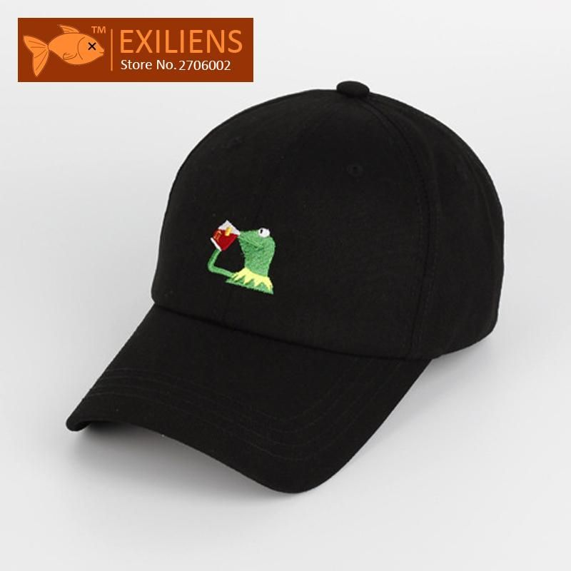 95fe900e6b9 2017 New Fashion Brand Breathable Frog drinking Snapback Caps Strapback  Baseball Cap Bboy Hip-hop