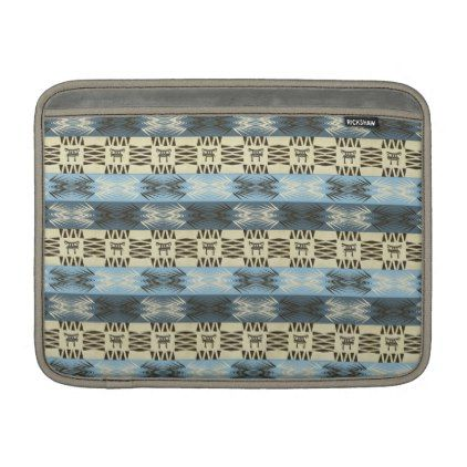 #Ethnic african tribal striped pattern. sleeve for MacBook air - #trendy #gifts #template