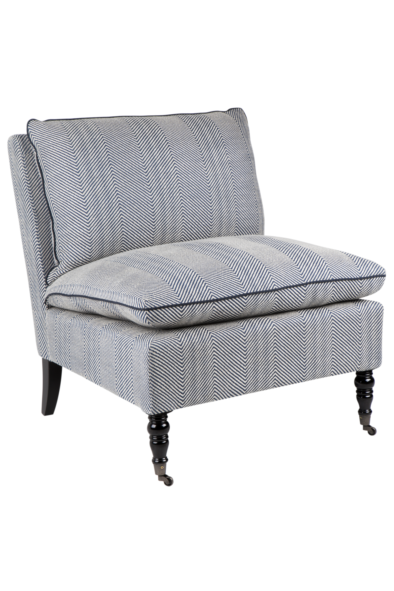 Candace Occasional Chair   Blue U0026 White Chevron U2013 Allissias Attic U0026 Vintage  French Style