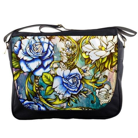 f953851df9a Womens Abstract Floral Art Bag Blue Roses Purse Accessory tattoo Art  Lowbrow Graffitti inspired Memories