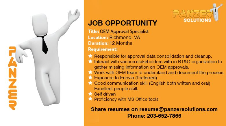 Oem approval specialist job opportunities business