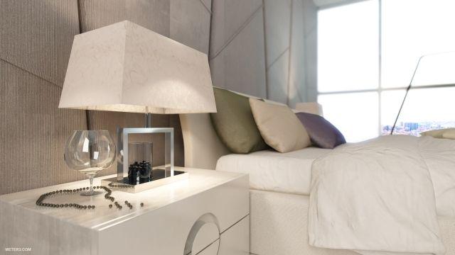 moderne gestaltung im schlafzimmer-reliefe textilwand-design, Innenarchitektur ideen