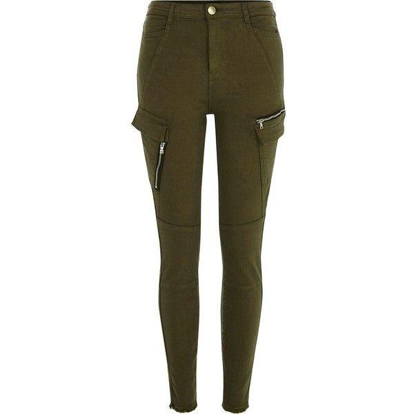 Island Mxn Cargo River Green Khaki 135 Petite 1 Pants Skinny dwzXzHq
