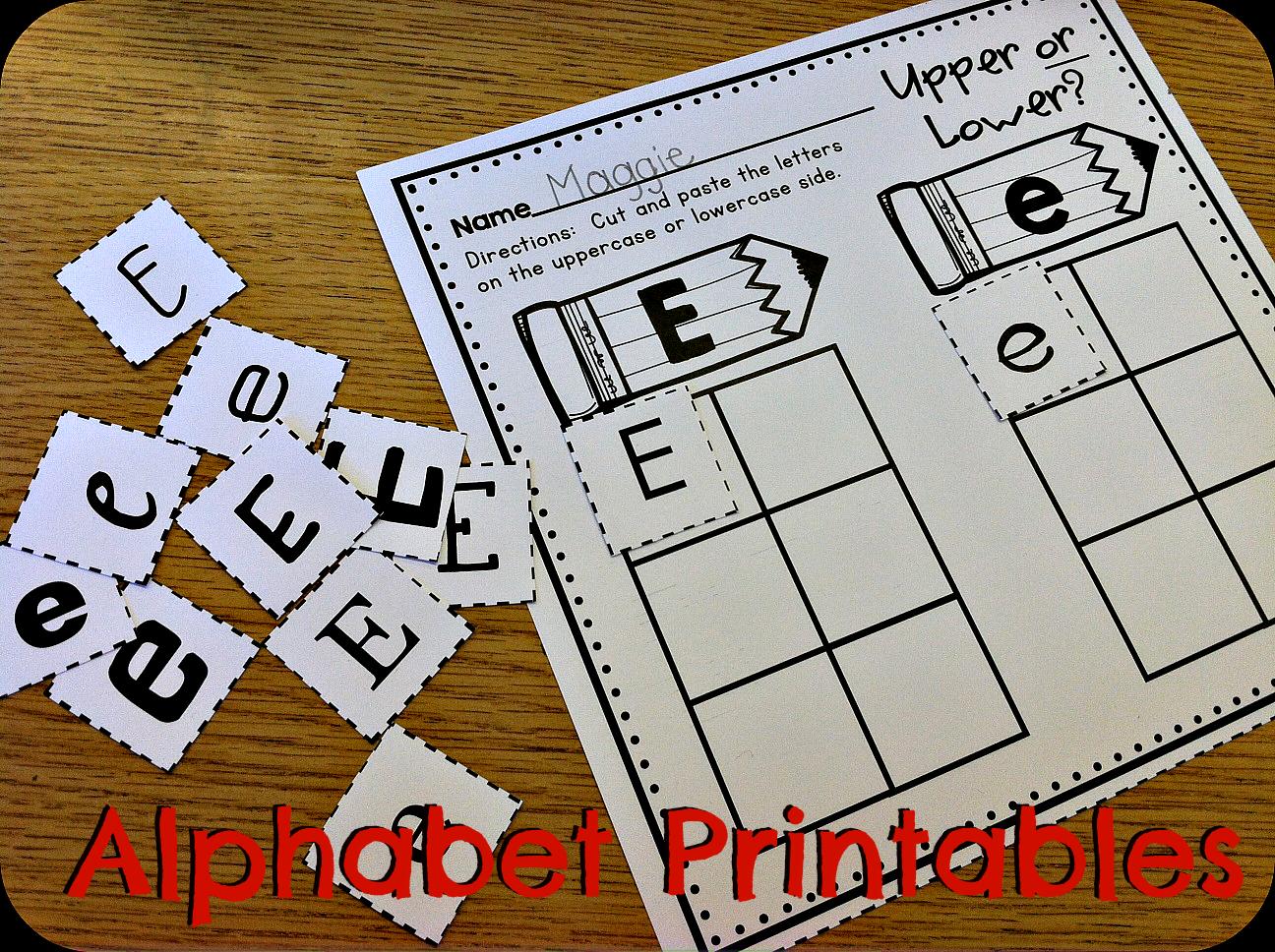 Alphabet Printables Abc Printables