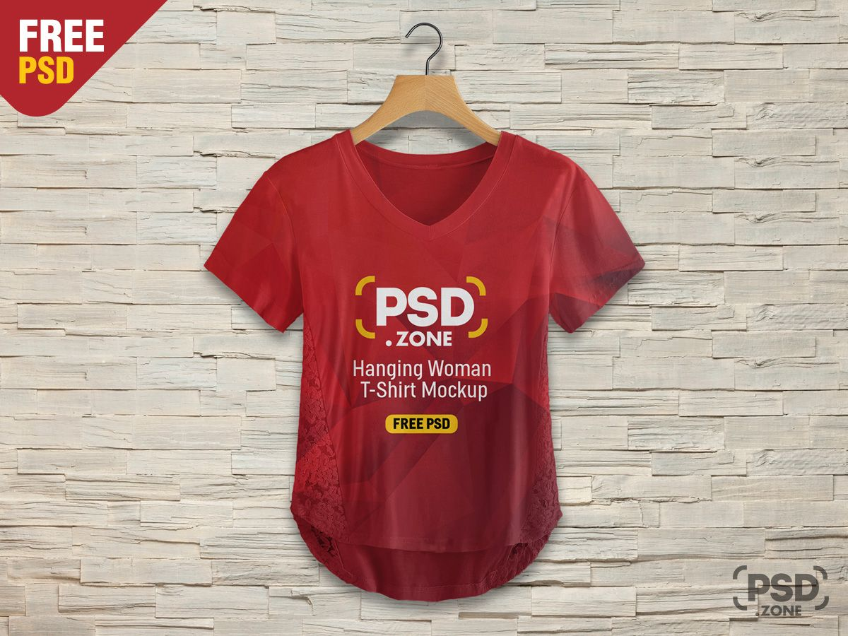 Download Hanging Woman T Shirt Mockup Psd T Shirts For Women Free Shirts Shirt Mockup