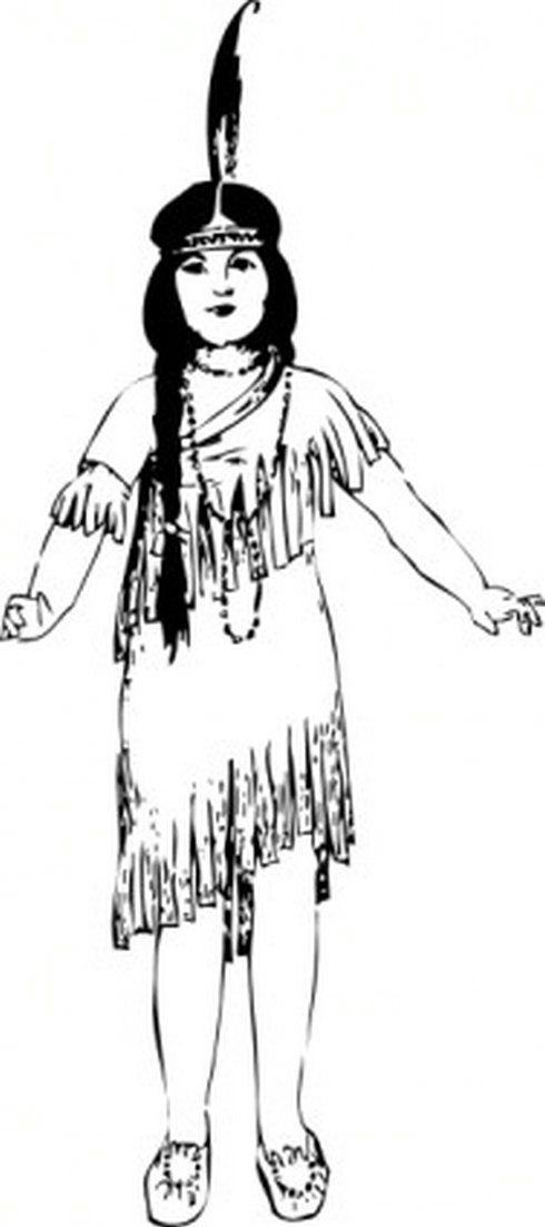 Image result for free clipart images of a girl dressed as an indian