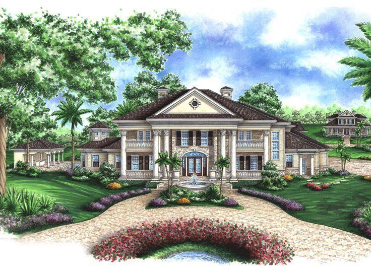 Southern Colonial House Plans Plan 037H 0080 Find Unique House