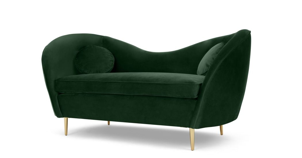MADE pine green velvet Chaise Longue | City home ideas in ...
