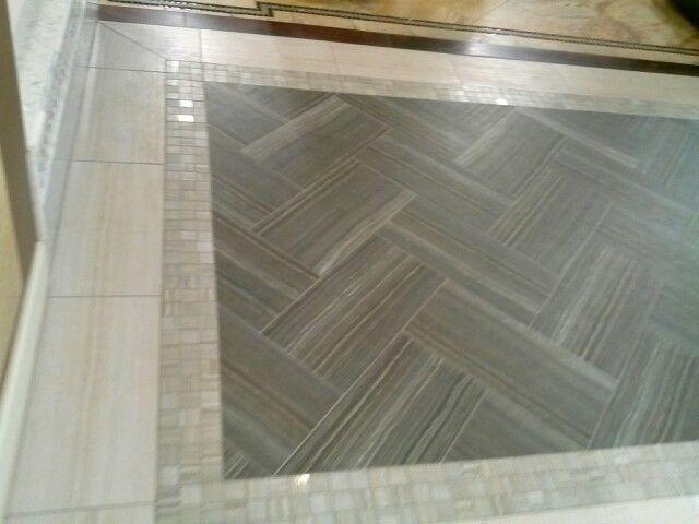 Patterned Porcelain Tile Flooring Updated Kitchen Hardwood Floors