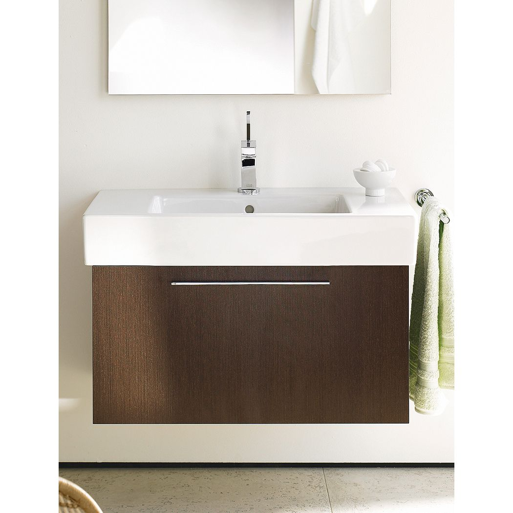 This high-quality X-large vanity from Duravit is crafted from wood ...