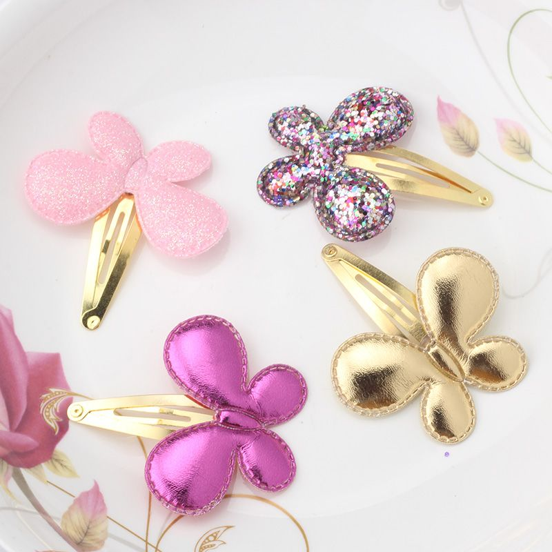 Heart hair clips Pastel glitter hair clip set Heart barrettes for girls Girls hair clip set Glitter heart snap clips Toddler hair clips