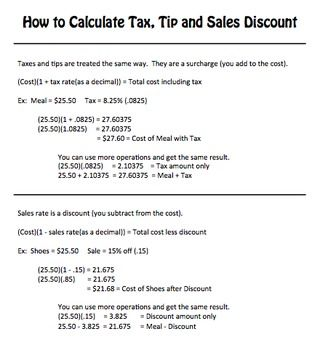 How to find sales tax rate in math Wonderful