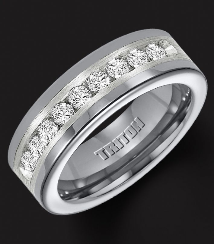 Tungsten Wedding Bands For Men Diamonds Collection