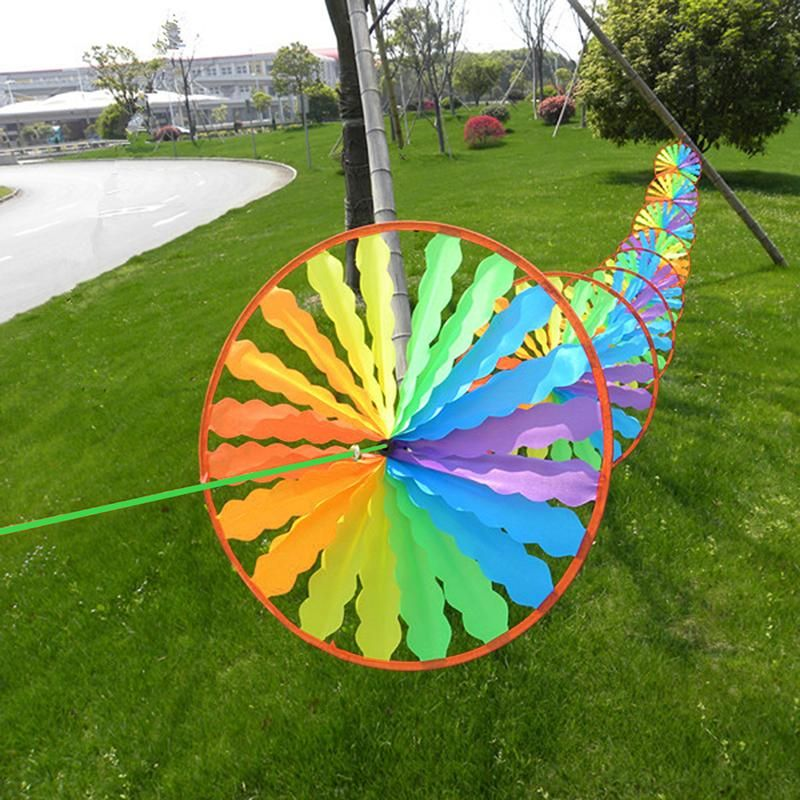 Sun Flower Wind Spinner Party Garden Lawn Decoration Ornament Windmill Park
