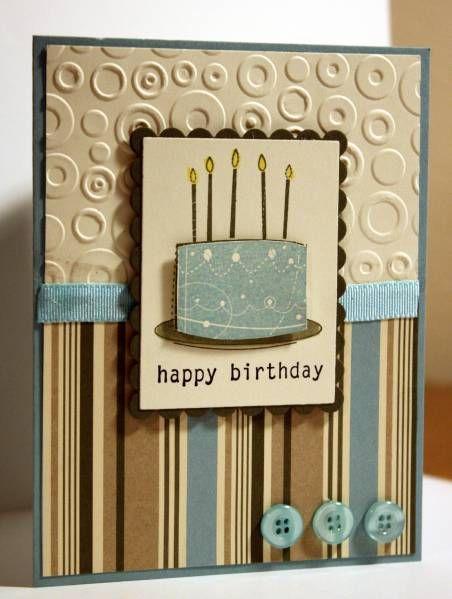 Masculine Birthday Cards Handmade Embossed Cards Masculine Birthday Cards