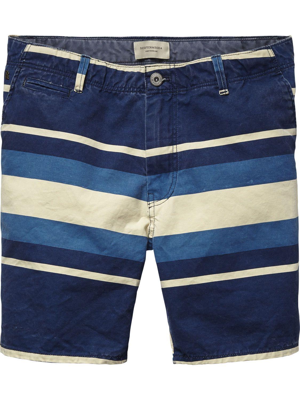 506964eb19a68 Striped Canvas Shorts