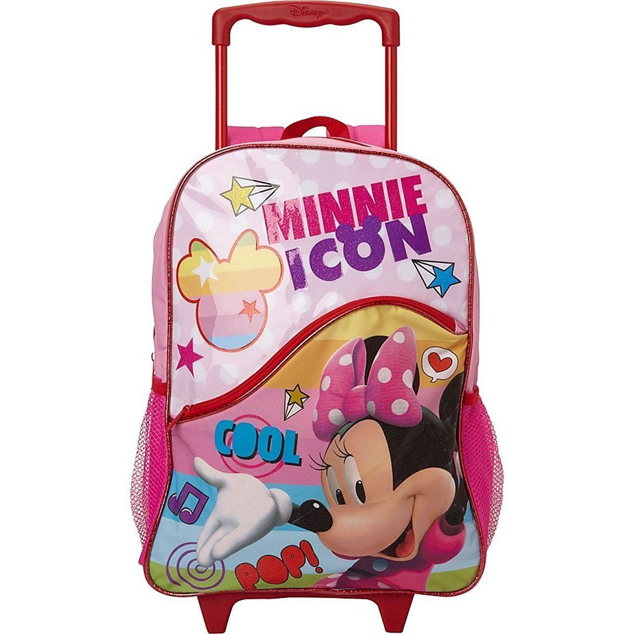 be760d87e5 Disney Minnie Mouse Rolling Backpack by Global Designs