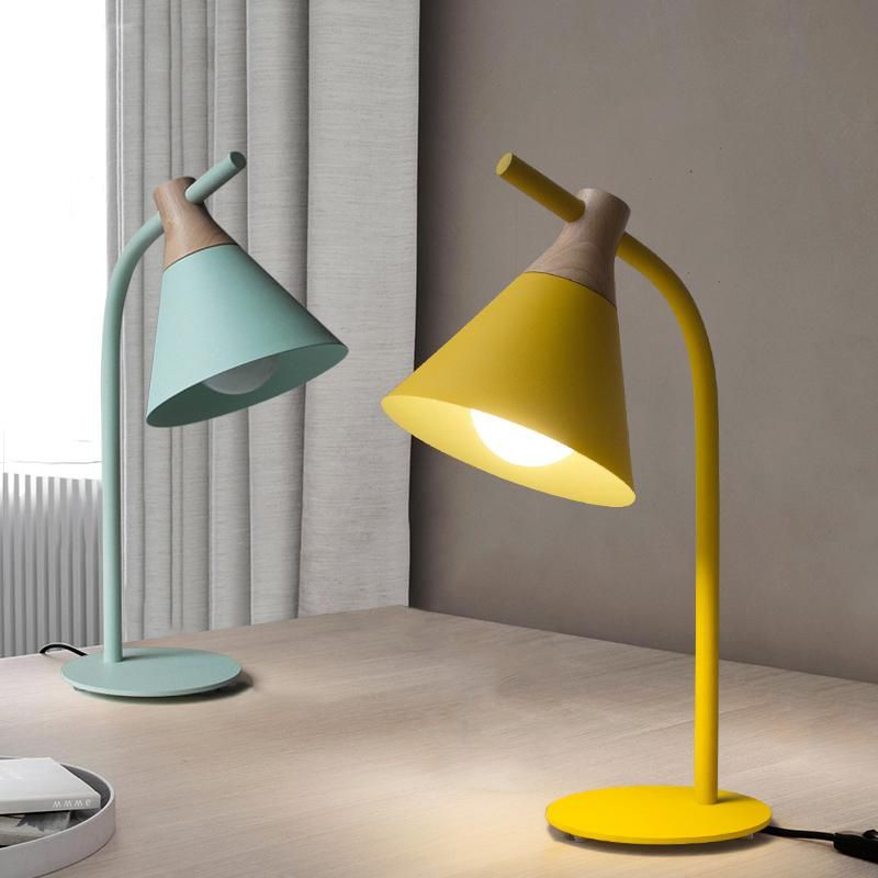 Simple Study Modern Led Table Lamp Yellow Green Desk Light Led Eye Protection Desk Lamp Sample Houses Home Furnishin Modern Desk Lamp Table Lamp Wood Desk Lamp