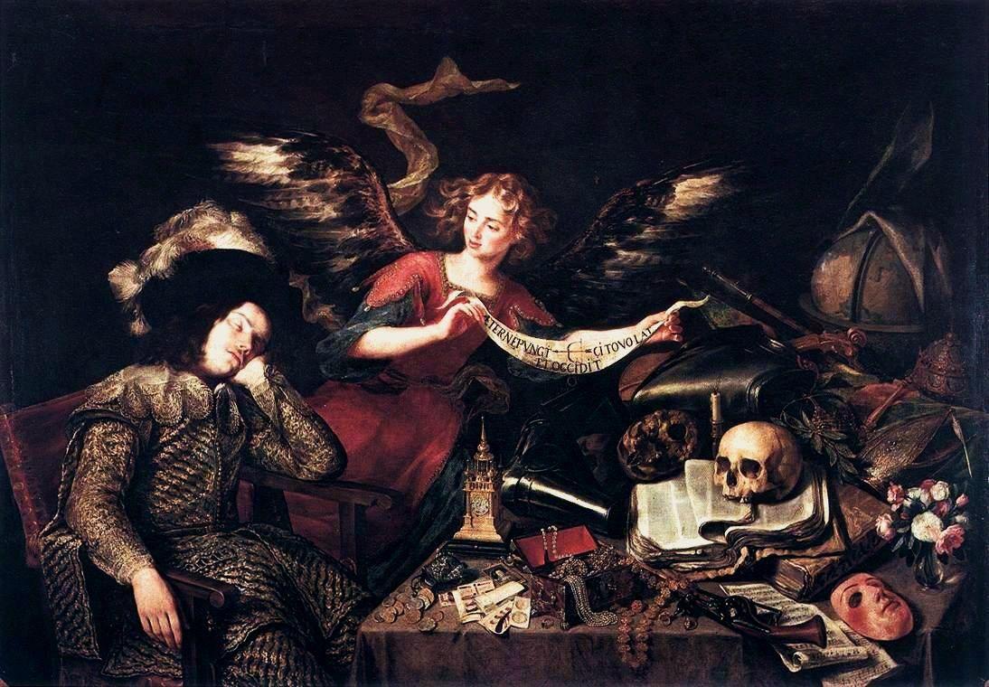 The Knight's Dream  (Painting by Antonio de Pereda, half of the seventeenth century, oil on canvas,