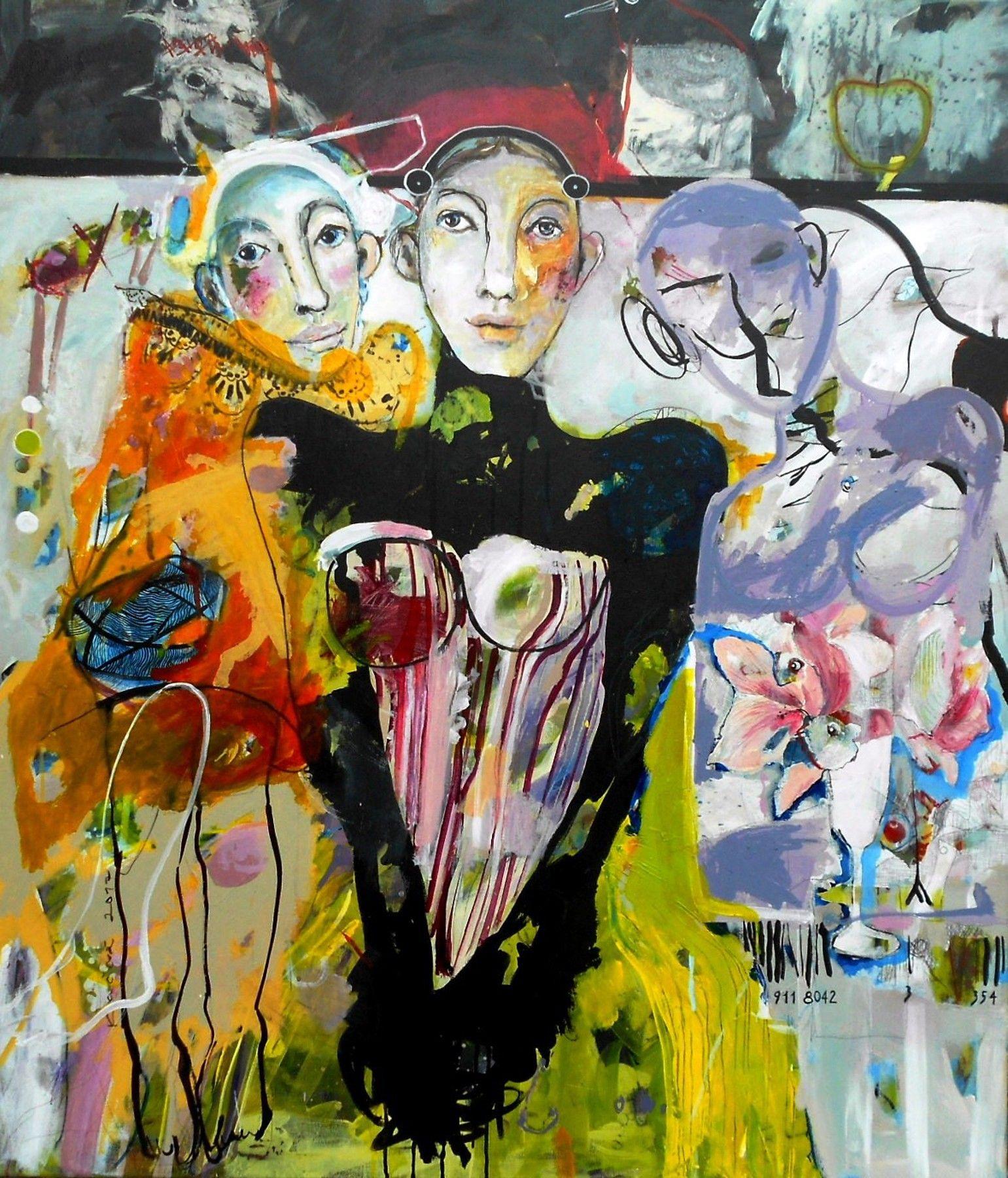 Renáta Kačová - Pokora, akryl, 120 cm x 100 cm, bez rámu, značené vľavo, 2017