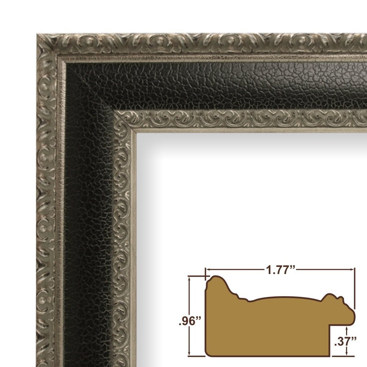 Amazon.com: 12x16 Picture / Poster Frame, Distressed Ornate Finish ...