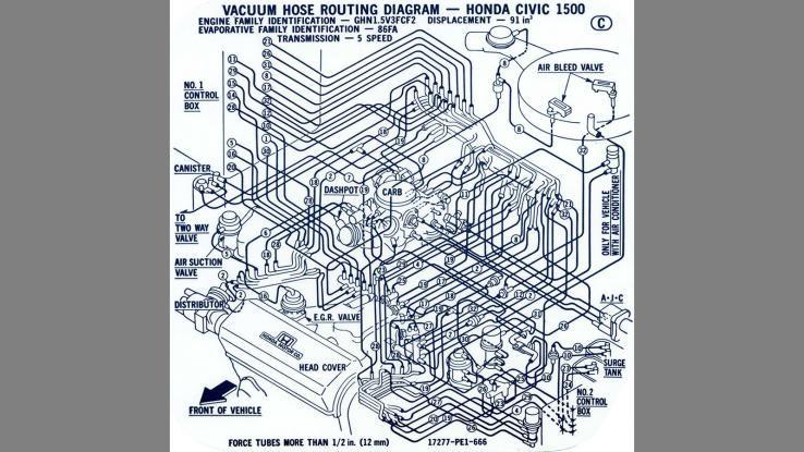 Honda Civic Vacuum Hose Diagram